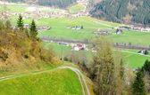 Alps panorama of town — Stock Photo