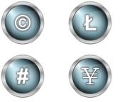 buttons and symbols — Stockfoto