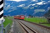 Alps train — Foto Stock
