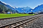 Alps train — Stockfoto