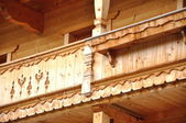 Wood carved house — Foto de Stock