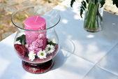 Wedding candle — Stock Photo