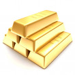 3d golden bars on a white background — Stock Photo #37901153