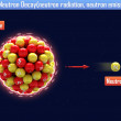 Stock Photo: Neutron Decay(neutron radiation, neutron emission)
