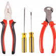 Pliers, screwdrivers and nippers on a white background — Stock Photo #37906107
