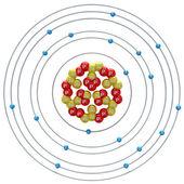 钾原子在白色背景上 — 图库照片