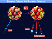 Electron Capture With Positron Emission — Stock Photo