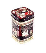 Tea box on a white background — Stock Photo