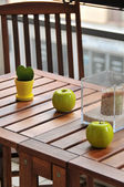 Terrace table and decoration — Stock Photo