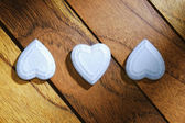 Three hearts aligned and inverted — Stock Photo