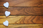 Three white hearts misaligned — Stock Photo