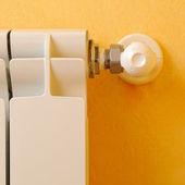 Heating radiator regulator front detail — Stock Photo