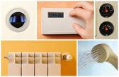 Central heating set photos — Stock Photo