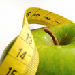 Apple and measuring tape for a healthy lifestyle 1 — Stock Photo #40273065