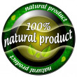 Natural product 100 icon — Stock Photo #43821159