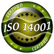Iso 14001 icon — Stock Photo