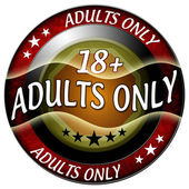 18 adults only icon — Stock Photo