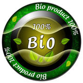Bio product 100 icon — Stock Photo