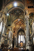 Overview Basilica of Notre-Dame de Fourviere — Stock Photo