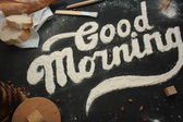 Good morning - Lettering art — Stock Photo
