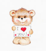 Teddy bear in love — Stock Photo