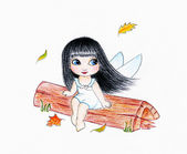 Adorable fairy — Stock Photo