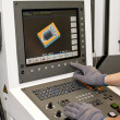 Buttons on cnc programmable machine — Stock Photo #40928411