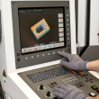 Stock Photo: Buttons on cnc programmable machine