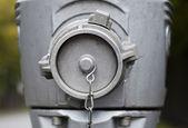 Modern Steel hydrant outdoors. Closeup. — Stok fotoğraf