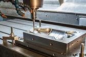 Industrial metal mold milling. Metalworking. — Stock Photo