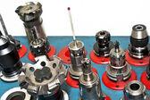 CNC tools. Milling industry. Closeup. — Foto de Stock