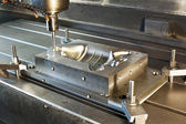 Industrial metal mold milling. CNC technology. — Stock Photo