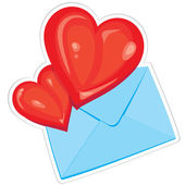 Hearts and envelope — Wektor stockowy