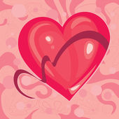 Heart with a Ribbon — Vector de stock