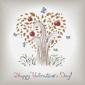 Elegant valentine's tree — Stock vektor