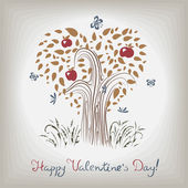 Elegant valentine's tree — Wektor stockowy