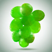 Bunch of Green Grapes — Vector de stock