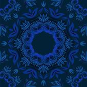 Abstrait bleu floral jacquard ronds vector — Vecteur