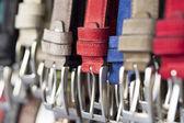 Multicolored belts — Stock Photo