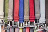 Multicolored belts — Stock Photo