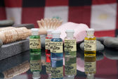 Spa accessories and Aromatherapy oil — Stock Photo