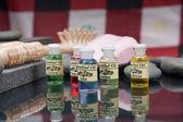 Spa aksesuarları ve aromaterapi yağ — Stok fotoğraf