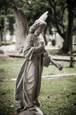 Statue of angel in old cemetery Museum Prasasti — Foto Stock
