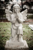 Statue of angel in old cemetery Museum Prasasti — Stock Photo