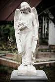 Statue of angel in old cemetery Museum Prasasti — Stock fotografie