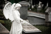 Statue of angel in old cemetery Museum Prasasti — Foto de Stock