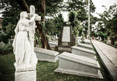 Statue in old cemetery Museum Prasasti — Foto Stock