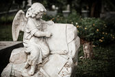 Statue of angel in old cemetery Museum Prasasti — Stockfoto