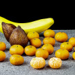 Stock Photo: Fresh Fruit Banana,Salak and Clementines Mandarin