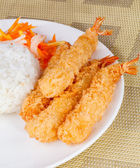 Deep Fried Shrimps Ebi Tempura — Stock Photo
